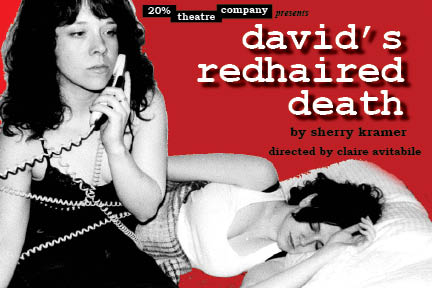 Postcard artwork from David's Redhaired Death